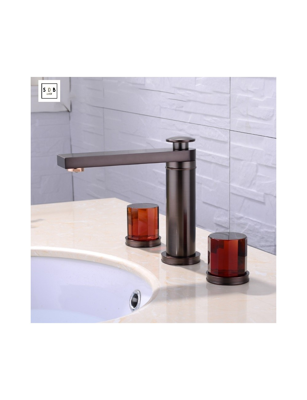 robinet m langeur lavabo sur plage bronze huil salledebains. Black Bedroom Furniture Sets. Home Design Ideas