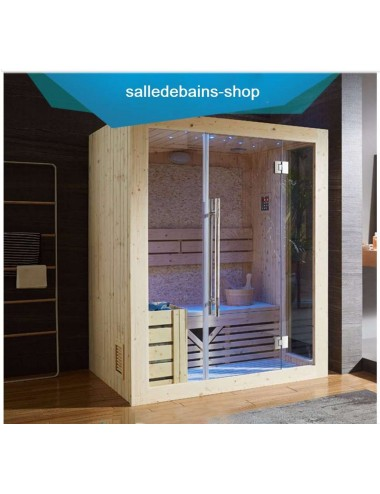 Sauna Malmoe, infra-rouge 4 personnes, Bluetooth, USB