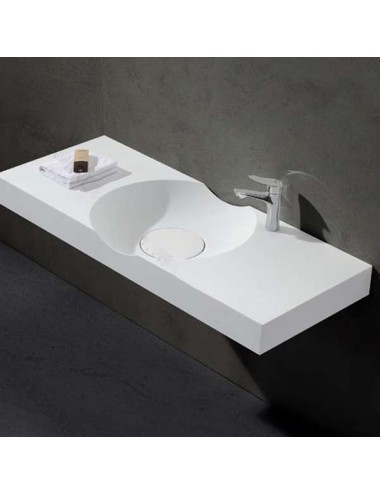 Dante, lavabo suspendu design 1200x480x100 mm