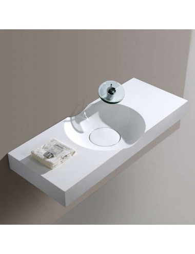 Quanto, lavabo suspendu design 1000x480x100 mm