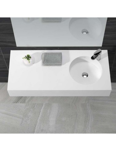 Tito, lavabo suspendu design1000x500x160 mm