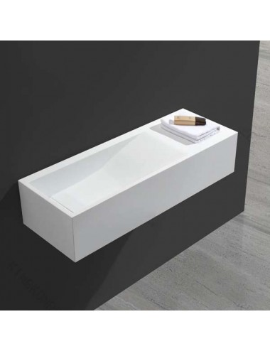 Rivers, lavabo suspendu design  900x320x200 mm