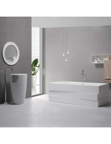 Edge, Baignoire design ,1785x840x610 mm, Solid Surface