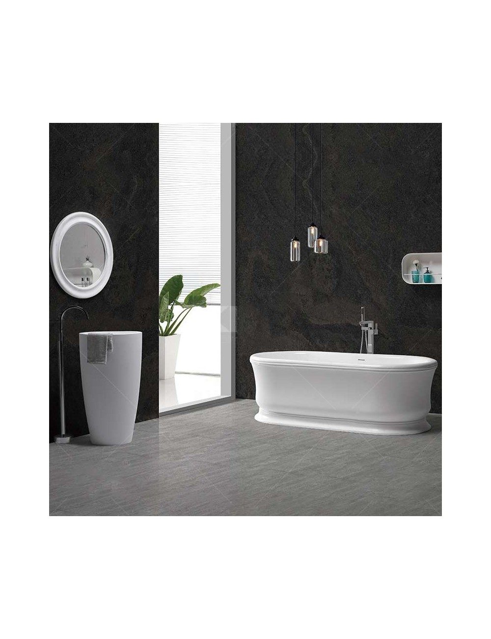 King, Baignoire design, 1820x830x610 mm Solid Surface