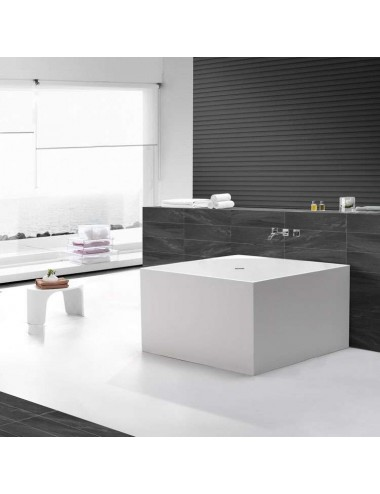 Spoon, baignoire cube design 1050x1050x600 mm Solid Surface
