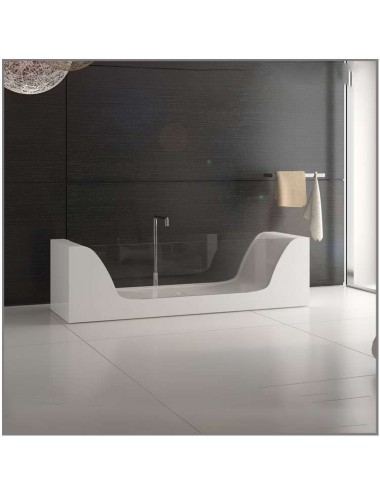 Glass, baignoire design 2000x650x560 mm Solid Surface