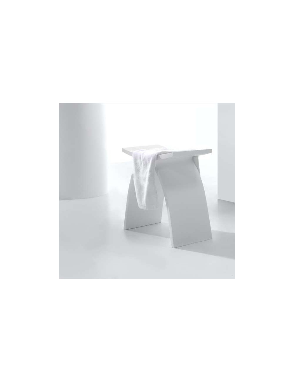 Kid, Tabouret de bain 420x230x425 mm, Solid Surface