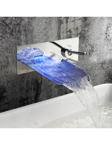 Torp, Mitigeur mural Led cascade, chrome