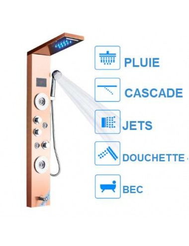 Buld, panneau de douche led thermostatique