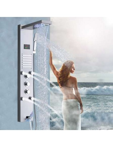 Acqua, panneau de douche led thermostatique