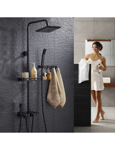 Evo,  colonne de douche thermostatique Push systeme
