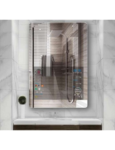 Glass, mirroir bluetooth led intelligent 80x60cm
