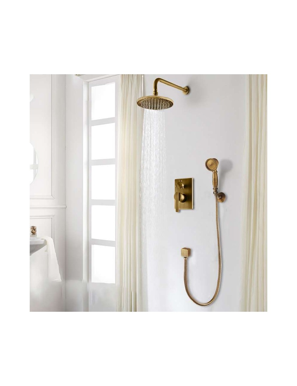 Colonne De Douche Thermostatique Encastrable.Cob Pack Douche Mural Encastrable Salledebains Shop Com
