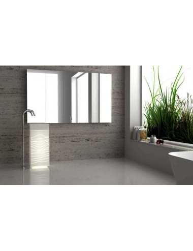 FLASH, lavabo colonne led solid surface translucide