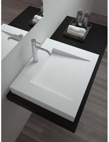 LUTHOR, lavabo suspendu solid surface
