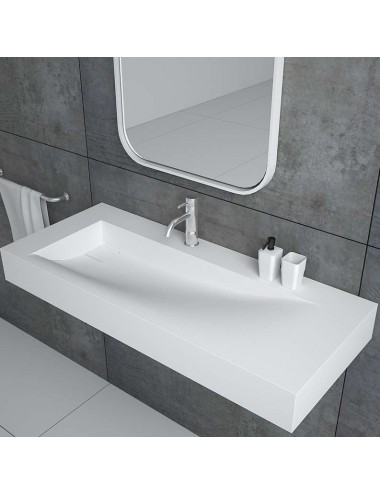 LAME, lavabo suspendu en resine 1000 x 420 mm