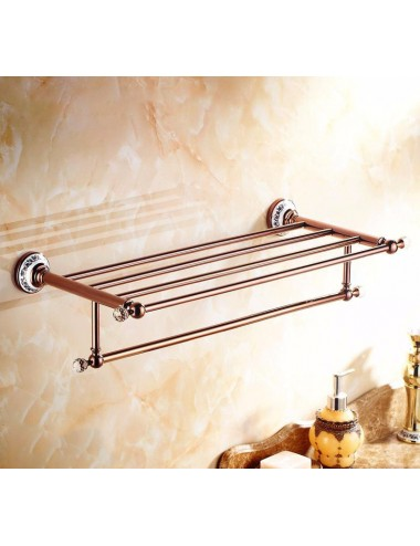Collection King, porte serviette rack, finition or rose