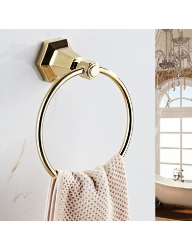 Collection Lux, anneau porte serviette, Or
