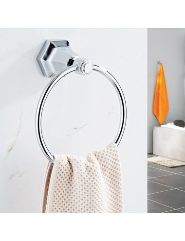 Collection Lux3, anneau porte serviette, chrome poli