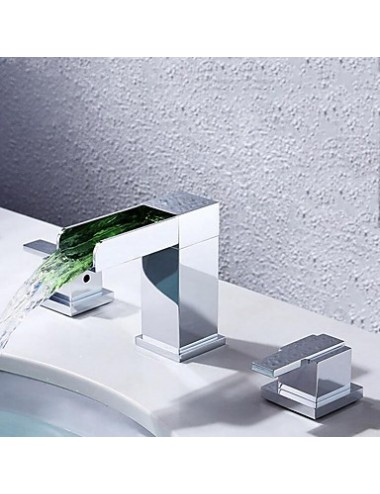 First, mitigeur lavabo Led Cascade Chrome