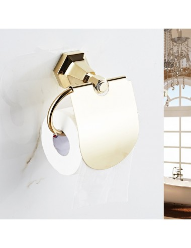 Collection Lux, porte rouleau, or miroir