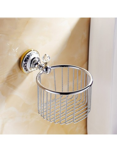 Collection Alto , panier porte de rouleau, chrome poli