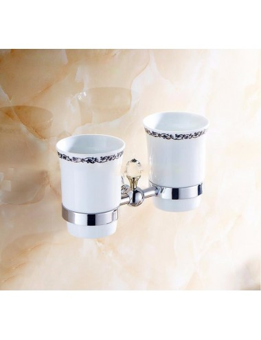 Collection Alto ,Porte verre duo, chrome poli
