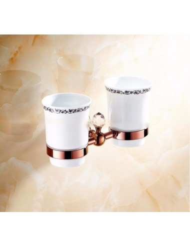 Collection Pola,Porte verre duo, Or rose