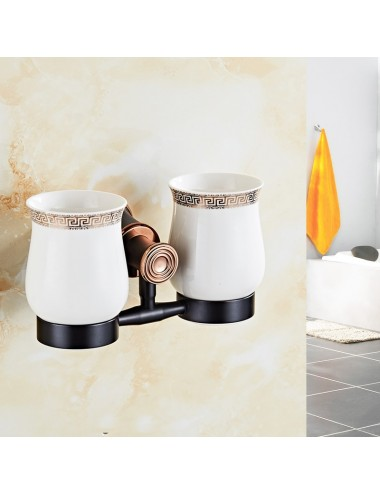 Collection Twist, porte verre duo, orb & cuivre