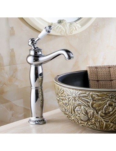 Collection Lus, robinet lavabo Shine, chrome poli