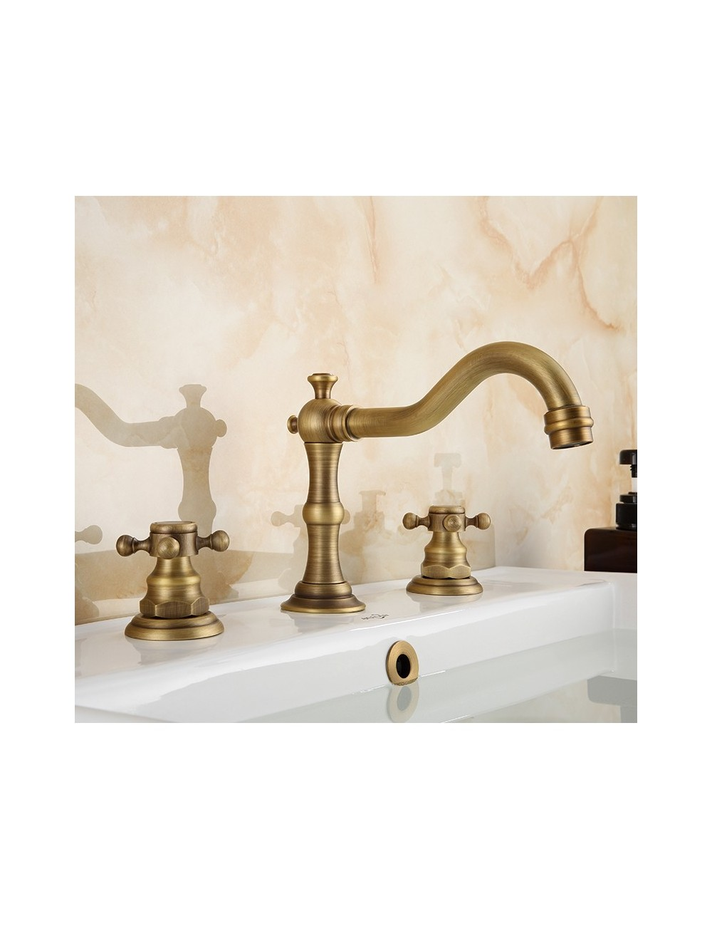 Ugo, Melangeur Lavabo 3 trous finition bronze